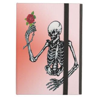 Solo rosa rojo esquelético gótico