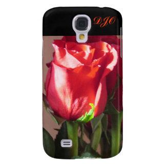 Solo rosa rojo por DJONeill Funda Para Galaxy S4