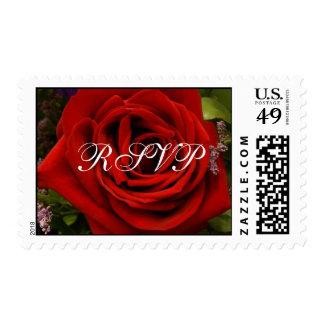 Solo rosa rojo - RSVP Timbre Postal