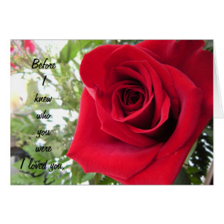 Solo rosa rojo - te amo tarjeta de felicitación