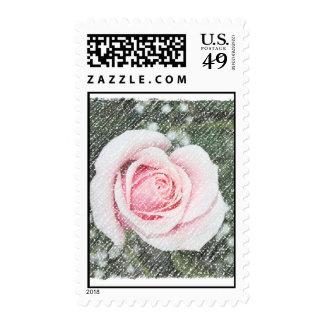 Solo rosa rosado rasguñado y descolorado envio