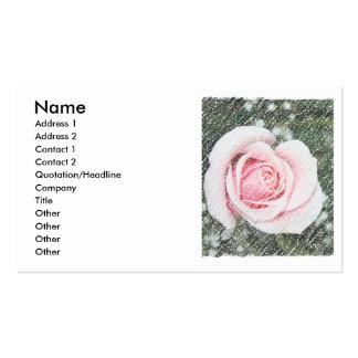 Solo rosa rosado rasguñado y descolorado tarjetas de visita