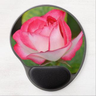 Solo rosa rosado y blanco alfombrillas con gel