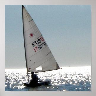 Solo Sail Poster Print