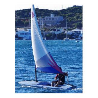Solo Sailing Dinghy Postcard