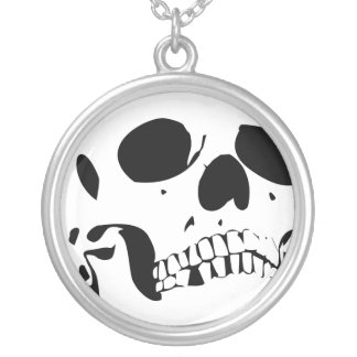 solo skullz silver plated necklace