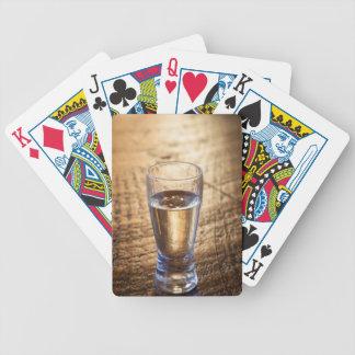 Solo tiro del Tequila en la tabla de madera Barajas De Cartas