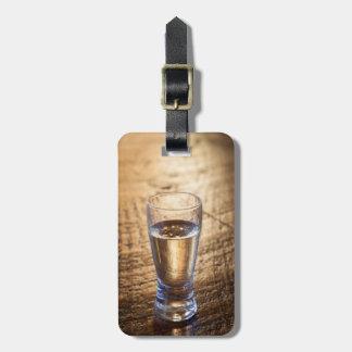 Solo tiro del Tequila en la tabla de madera Etiquetas Para Maletas