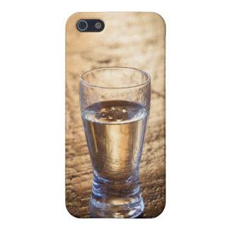 Solo tiro del Tequila en la tabla de madera iPhone 5 Carcasas