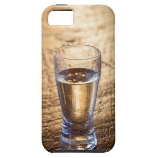 Solo tiro del Tequila en la tabla de madera iPhone 5 Funda