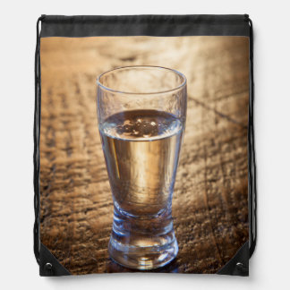 Solo tiro del Tequila en la tabla de madera Mochilas