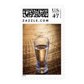Solo tiro del Tequila en la tabla de madera Sello Postal