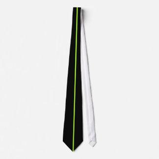 Solo verde+Raya amarilla en lazo negro Corbatas