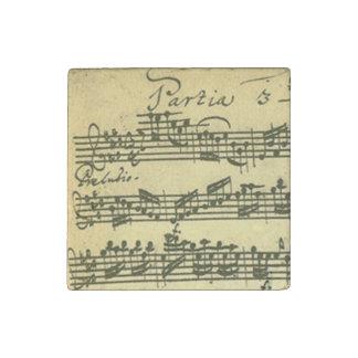Solo Violin Partita Excerpt Stone Magnet