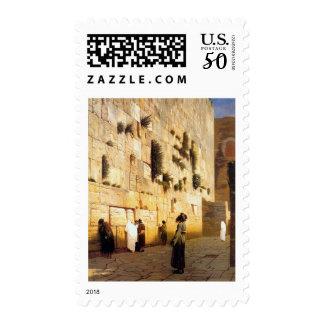 Soloman's Wall Jerusalem, Jean-Leon Gerome Postage