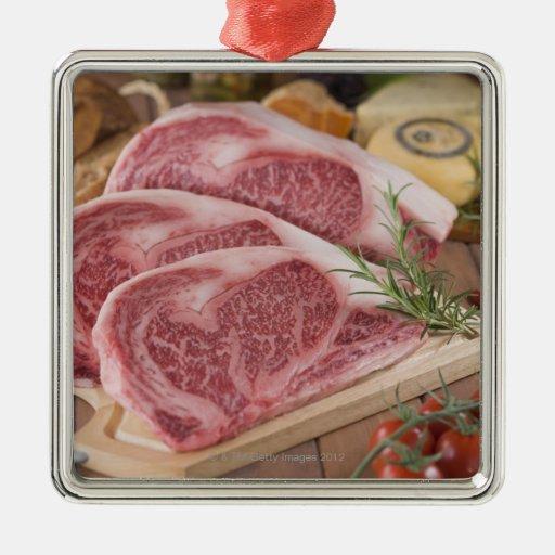 Solomillo de la carne de vaca ornamento de navidad