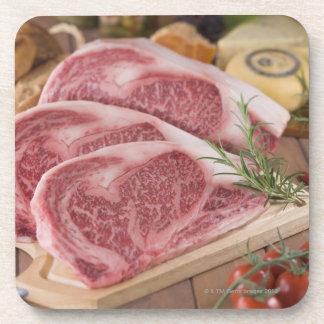 Solomillo de la carne de vaca posavaso