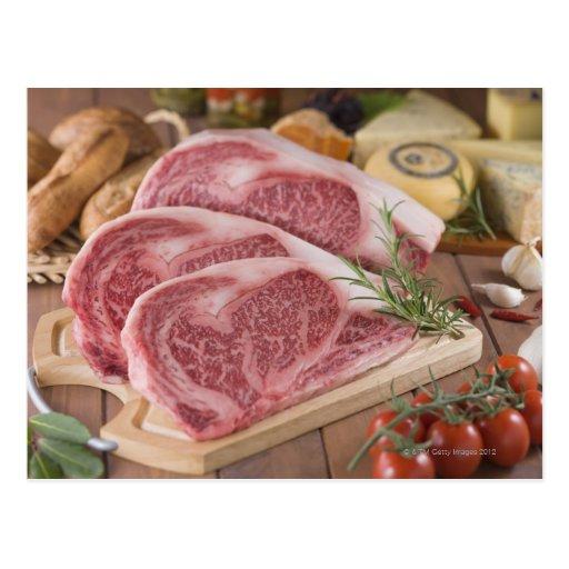 Solomillo de la carne de vaca tarjeta postal
