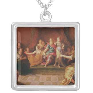 Solomon and his Women Silver Plated Necklace