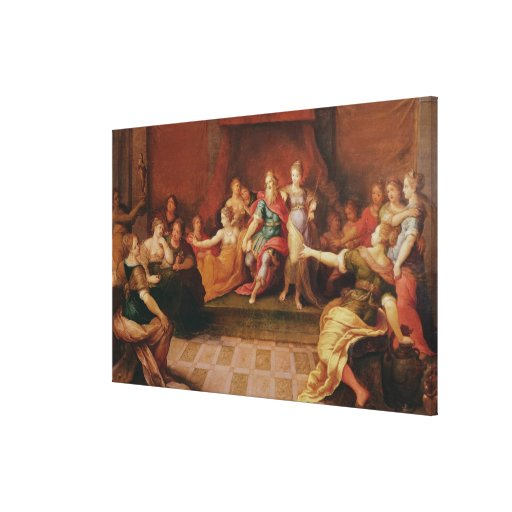 Solomon and his Women Stretched Canvas Print