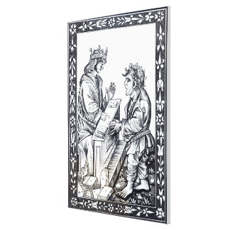 Solomon and Marcoul illustration from Canvas Print