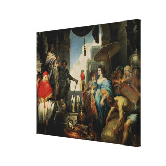 Solomon and the Queen of Sheba Stretched Canvas Print