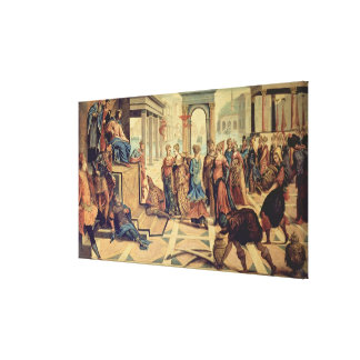 Solomon and the Queen of Sheba Gallery Wrapped Canvas