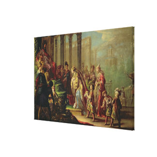 Solomon and the Queen of Sheba or Esther before A Gallery Wrapped Canvas