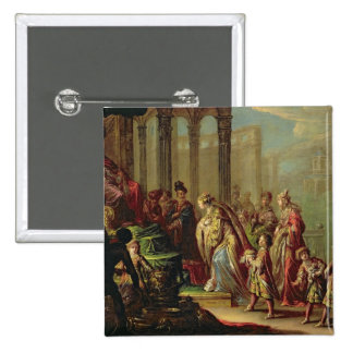 Solomon and the Queen of Sheba, or Esther before A Pinback Button