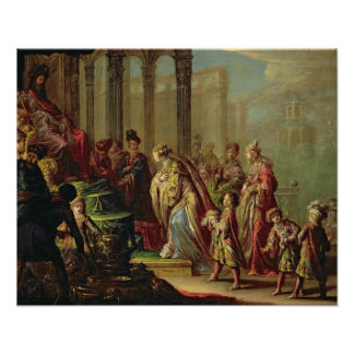 Solomon and the Queen of Sheba, or Esther before A Poster