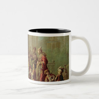 Solomon and the Queen of Sheba, or Esther before A Two-Tone Coffee Mug