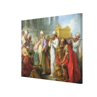 Solomon Before the Ark of the Covenant 1747 Stretched Canvas Print