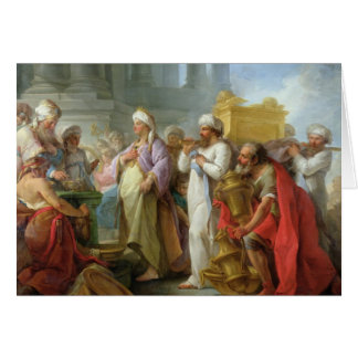 Solomon Before the Ark of the Covenant, 1747 Card