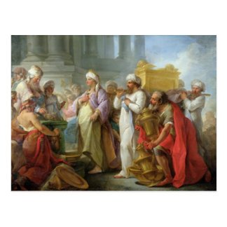 Solomon Before the Ark of the Covenant, 1747 Postcard