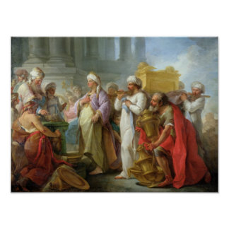 Solomon Before the Ark of the Covenant, 1747 Poster
