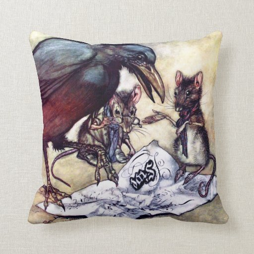 Solomon Caw and Assistants Throw Pillow