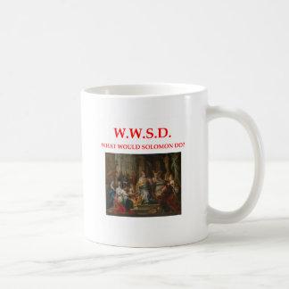 solomon classic white coffee mug