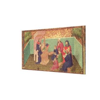 Solomon dictates the Proverbs Gallery Wrap Canvas
