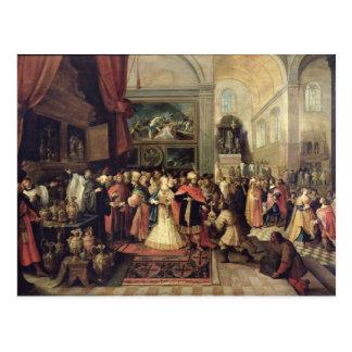 Solomon en el Hacienda del templo, 1633 Tarjetas Postales