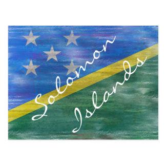 Solomon Island apenaron la bandera Postales
