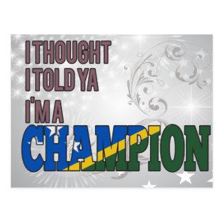 Solomon Islander and a Champion Postcard