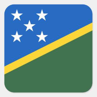 Solomon Islander Flag Square Sticker