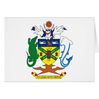 Solomon Islands Coat of Arms Greeting Card