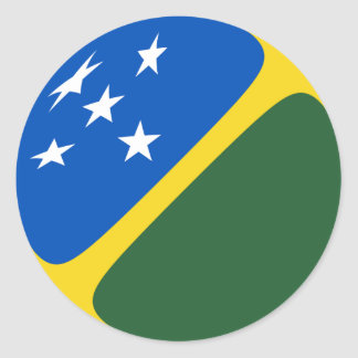Solomon Islands Fisheye Flag Sticker