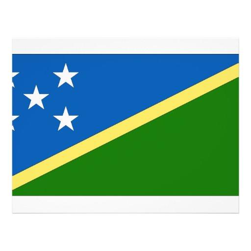 "Solomon Islands Flag 8.5"" X 11"" Flyer"