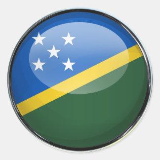 Solomon Islands Flag Glass Ball Classic Round Sticker