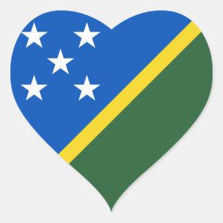 Solomon Islands Flag Heart Sticker