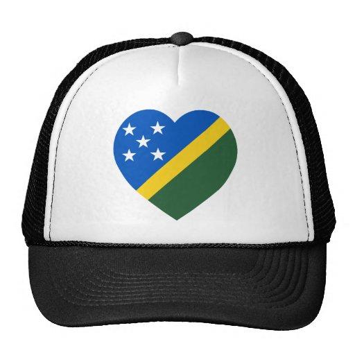 Solomon Islands Flag Heart Trucker Hat