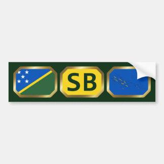 Solomon Islands Flag Map Code Bumper Sticker