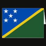 Solomon Islands Flag Note Card